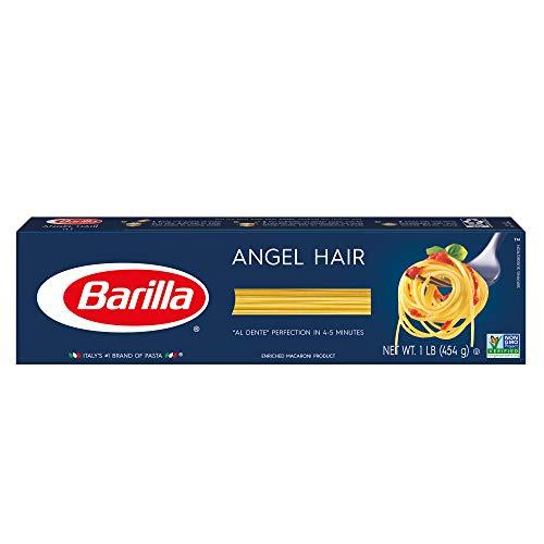 BARILLA Blue Box Angel Hair Pasta, 16 oz; Boxes (Pack of 20), 8 Servings per Box - Non-GMO Pasta Made with Durum Wheat Semolina - Italy's 1 Pasta Brand - Kosher Certified Pasta