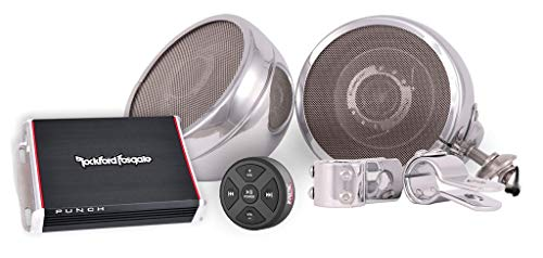 Steel Horse Audio ST600 Platinum Motorcycle Speaker System (2 Speakers/Classic Chrome)