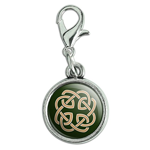 GRAPHICS & MORE Celtic Knot Love Eternity Antiqued Bracelet Pendant Zipper Pull Charm with Lobster Clasp