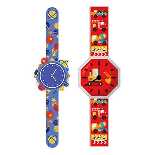 Kaifeng Ausgefallene Serie Uhren Tattoo Temporäre Aufkleber Spielzeug Autos Kinder Aufkleber für Kinder (Keine C)