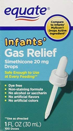 Infants' Gas Relief Drops by Equate, Simethicone 20mg 1oz Compare to Mylicon Drops by Equate