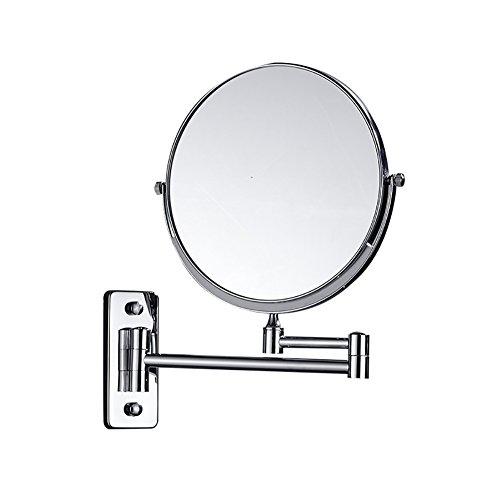 JJJJD Espejo de Maquillaje de Aumento de 6 Pulgadas 3X, Espejo de Maquillaje Redondo de Cuarto de baño Que afeita el Espejo Giratorio de la vanidad