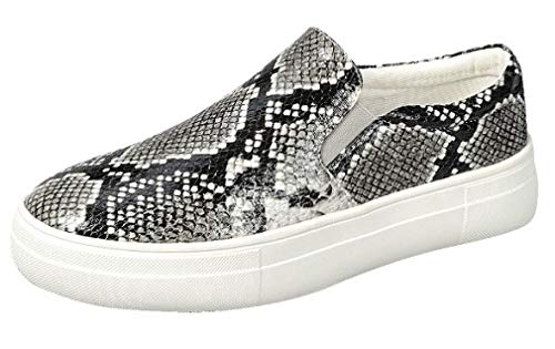 Harper Shoes Platform Slip On Sneakers, Snake, 8.5