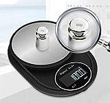 PTN Báscula de Cocina Digital, 3000 g / 0,1 g de Alta Precisión Balanza de Alimentos de Acero Inoxidable con Pantalla LCD y 7 Unidades, Función de Tara