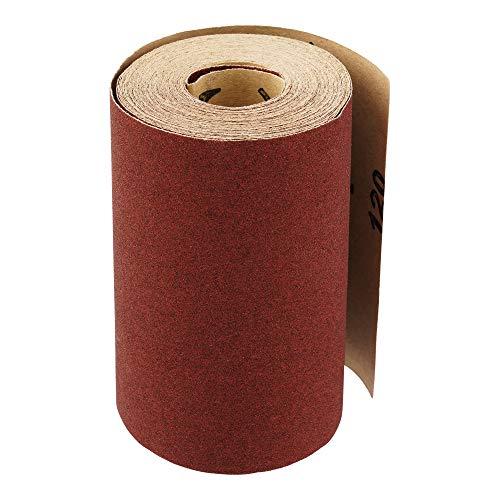 Schleifpapierrolle 115 mm x 10 m | Korn 240 | Schleifrolle Schleifpapier Aluminiumoxid Rolle