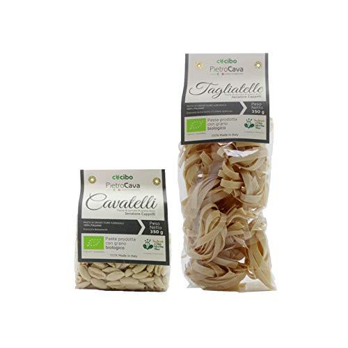Nudeln aus Hartweizengrieß 100% italienischem Weizen aus biologischem Anbau (2 Packungen à 350 g) - C'è Cibo