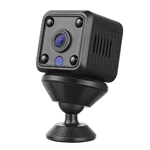 YOHOOLYO Mini Cámara espía oculta inalámbrica HD 1080P portátil Micro Spy Cam vigilancia con visión nocturna, sensor de movimiento y batería para casa, coche, oficina, etc.