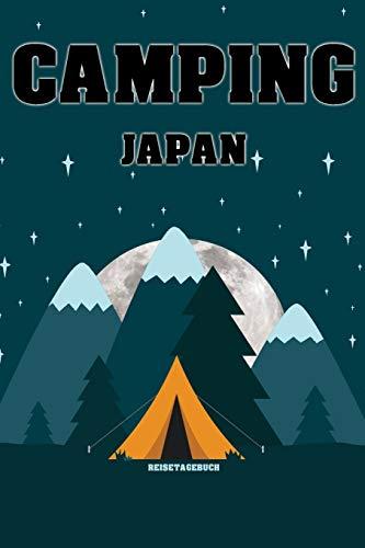 """Camping Japan - Reisetagebuch: Urlaubsplaner für deine Reise im Zelt, Wohnmobil, Wohnwagen oder Campervan   Checklisten   Kontaktdaten   Packliste   ...   108 Seiten   6\"""" x 9\"""" (ca. Din-A5)"""