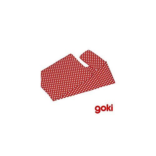 Goki - Linge de lit Coussin Couverture Matelas pour poupées Jouet Enfant 3 Ans + - Rouge à Pois