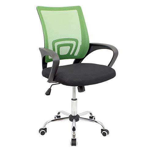 CashOffice - Silla de Escritorio Ergonómica, Silla de Oficina Giratoria con Respaldo Transpirable (Verde)