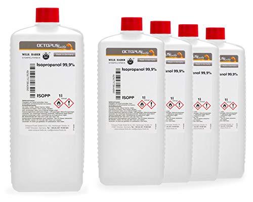 Isopropanolo 99,9% 5L di alcool più pulito - alcool isopropilico 2-propanolo IPA, il detergente a tutto tondo per lo sgrassaggio