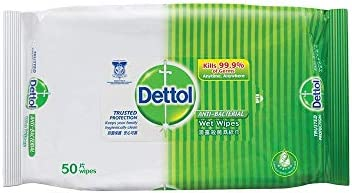 Dettol Wet Wipes, Anti-Bacterial, 50ct