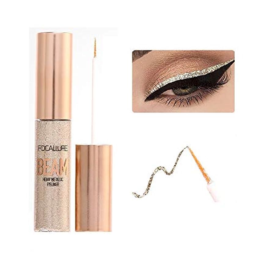大胆大西洋周術期Glitter Eyeliner Waterproof Shimmer Metal Liquid Eyeliner Easy to Wear Liquid Eyeshadow Pigment Eye Liner Kit キラキラアイライナー防水シマーメタルリキッドアイライナーリキッドアイシャドウピグメントアイライナーキット