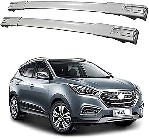 2 Piezas Coche Aluminio Bacas Travesaño para Hyundai IX35 2011-2016, Robustos portaequipajes...
