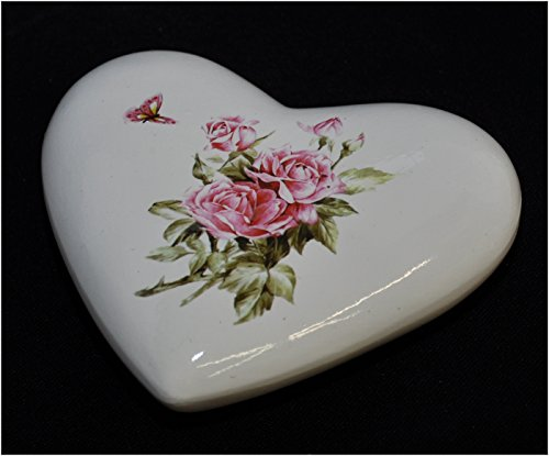 Cœur en céramique avec Roses