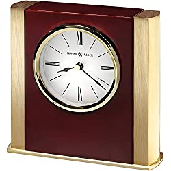 Howard Miller Ambrose Table Clock 645-797 – High-Gloss Rosewood Hall with Quartz Movement