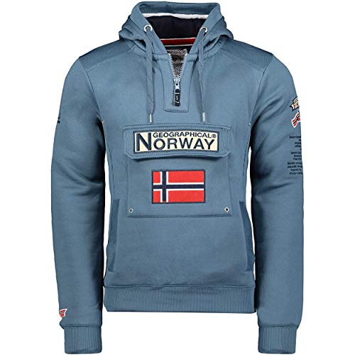 Geographical Norway GYMCLASS Men - Sudadera Capucha Bolsillos Hombre - Chaqueta Casual...