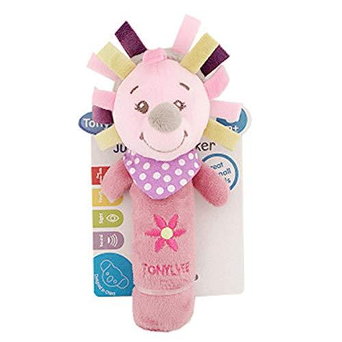 DDG EDMMS del erizo del bebé sonajero juguete de peluche cuna del juguete que cuelga, cochecito de bebé del juguete del coche cama de asiento, juguete del desarrollo de la actividad recién nacido
