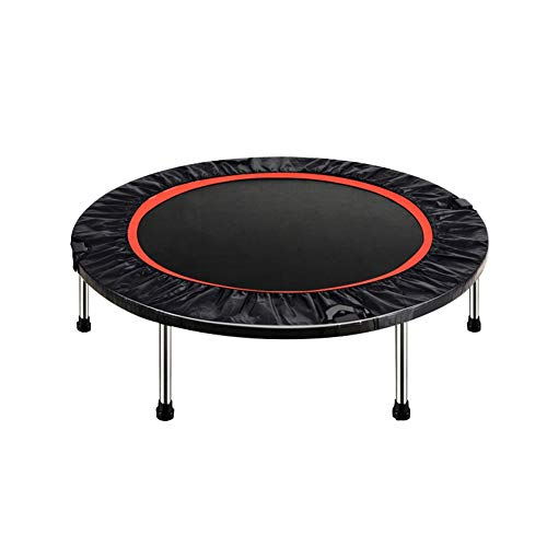 JXJJD Folding Trampoline with Handle, Half Folding Silent Quality Indoor Mini Trampoline for Adults Kids for Garden/Yoga/Exercise/Cardio-Max Load 330lbs