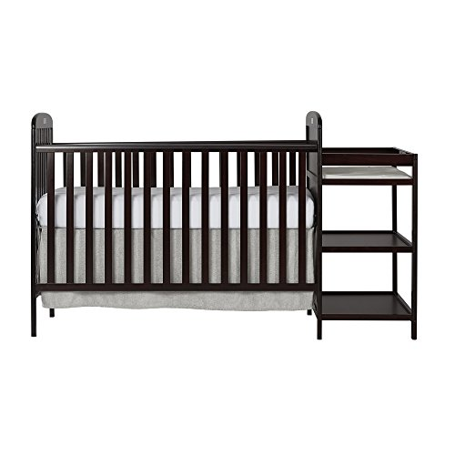 Dream On Me, Anna 4-in-1 Full Size Crib and Changing Table Combo, Espresso, ONE Size