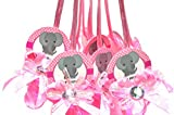 Baby Shower Pacifier Necklaces'Elephant' (24 Pieces) (Pink)