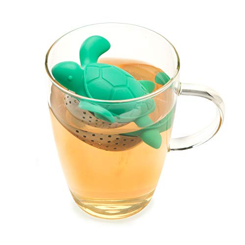 Turtle Tea Infuser Stainless Steel and Silicone Turtle shaped Loose Leaf Tea Infuser by TrueZoo