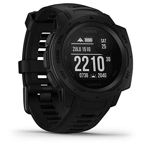 Garmin Instinct Tactical - robuste GPS-Smartwatch mit taktischen Funktionen. US-Militärstandard und wasserdicht bis 10 ATM. Mit Sport-/Fitnessfunktionen, Kompass, 14 Akku (Generalüberholt)