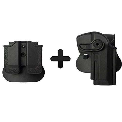 IMI Defense Funda táctica Roto para pistola + doble revista para pistola Beretta 92/9 Llama 82 Cheetah FS 85 Yavuz 16
