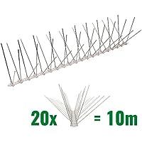 Pestsystems 10 Metros Base de Policarbonato-4-hileras de Púas antipalomas la solución de Calidad para el Control de Aves, Transparent