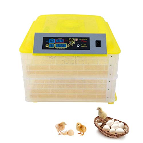 GUOCAO Egg Incubator, 112 Eggs Automatic Turning Temperature Humidity Control Poultry Hatching for Chickens Ducks Goose Birds