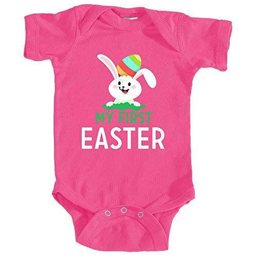 Promini Body pour bébé Inscription My First Easter - Rose - 2 mois