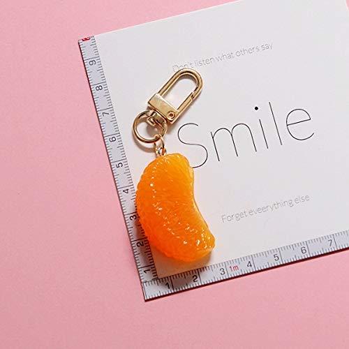 HXYKLM Simulatie wekker fruit sinaasappel sleutelhanger meisje sleutelhanger voor dames meisjes sieraden cartoon sleutelhanger sleutelhanger sleutelhanger sleutelhanger 1 x Polsband