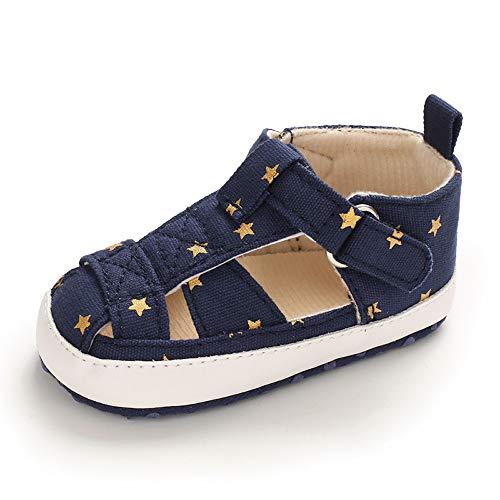 Zapatos Bebe Niña Niño Primeros Pasos Verano Zapatillas Bebé Recién Nacido Azul Marino 6-12 Meses