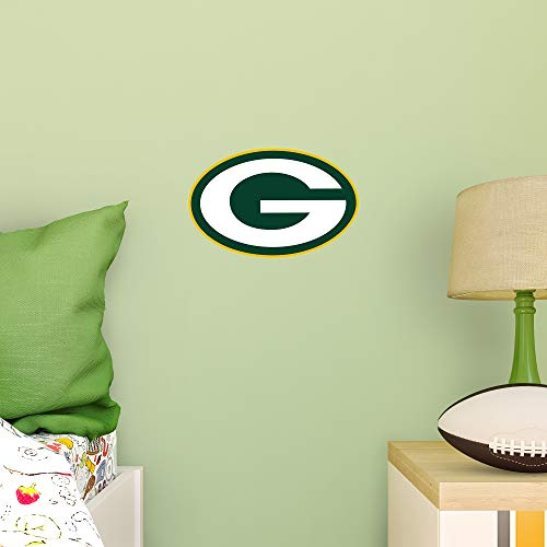 FATHEAD NFL Green Bay Packers - Logo Teammate- Officially Licensed Removable Wall Decal, Multicolor, Large - 89-03352