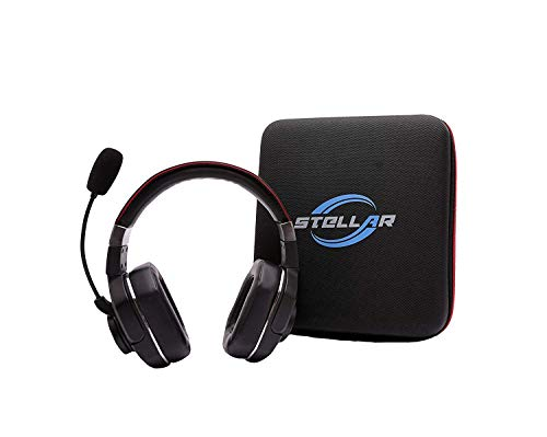Stellar Electronic Pluto+Duo Bundle - 60+Hrs Talk Time, 99% Noise Cancellation - Best Bluetooth Headset for Truckers and Drivers