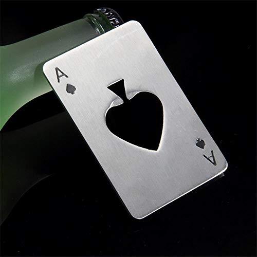 DACCU 2019 heiße Verkaufs-1pc Poker-Spielkarte Pik-As-Stab-Werkzeug Soda Bier Drehverschlussöffner Geschenk