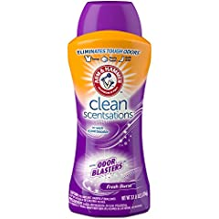Long Lasting Freshness Revitalizing, long lasting freshness plus pure ARM & HAMMER Baking Soda Add to your washer before clothes for a scentsationally fresh laundry experience HE Compatible Safe for all colors, washable fabrics and load types