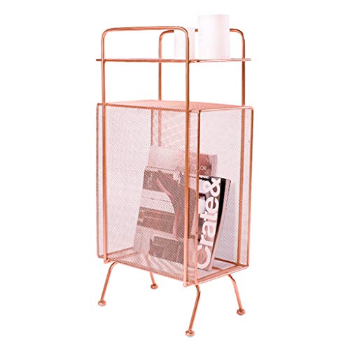 Mesas de centro nórdico de hierro forjado mesa auxiliar | Mesa auxiliar para sofá de café lámpara mesita de noche | Estantes de revistas multicapa | 5 colores