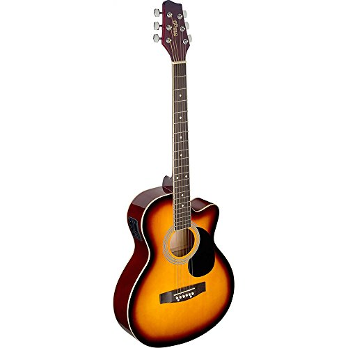 Stagg SA20ACE SNB Guitare électro-acoustique Rouge Soleil