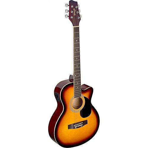 Stagg SA20ACE SNB - Guitarra electro acústica, color sunburst