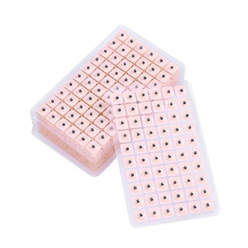 Heallily semillas de oído 1200 piezas de acupuntura desechable perlas de oído magnéticas herramienta de kit de acupresión de semillas de prensa de oído
