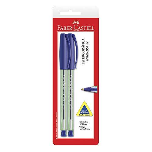 Caneta Trilux Ponta Fina, Faber-Castell, SM/TRIPFAZ, Azul