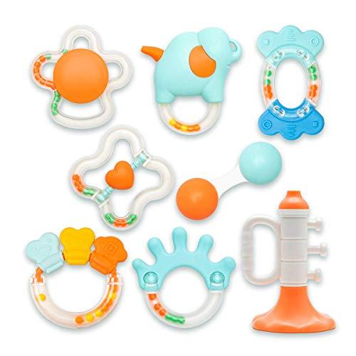 Alilo Set con 8 Massaggie Gengive / Anelli da Dentizione per Neonati - Bebè Baby Bambini 8x Anello