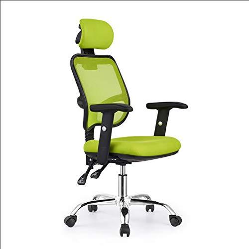 Ergonomische bureaustoel met Lumbar-ondersteuning, verstelbare armsteun, hoofdsteun en ademend huidvriendelijk mesh