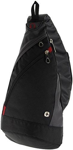 Wenger® Premium bodybag SLIN GBAG Crossover de Bag Sling de mochila, 10litros, negro/gris, ideal para actividades al aire libre, senderismo, viajar, escuela, Actual Tiempo Libre de colección 2017