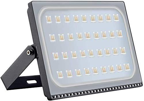 Viugreum 200W LED Foco Exterior de alto brillo, Led Floodlight 20000LM 3200K(Blanco Cálido),LED Focos Iluminación de, Iluminación de Exterior para Patios, Caminos, Escaleras, Fábricas,Jardines.