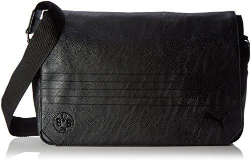 PUMA Umhängetasche BVB Shoulder Bag, Puma Black, 27.4 x 11.6 x 28 cm, 15 Liter, 074146 01