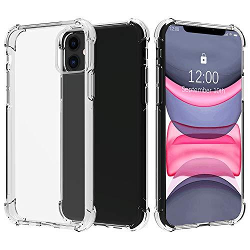 Migeec Cover per iPhone 11 - Ibrido Cristallino Custodia Cuscino d'Aria Tecnologia paraurti in Gel Custodie telefoniche a Protezione Completa per iPhone 11