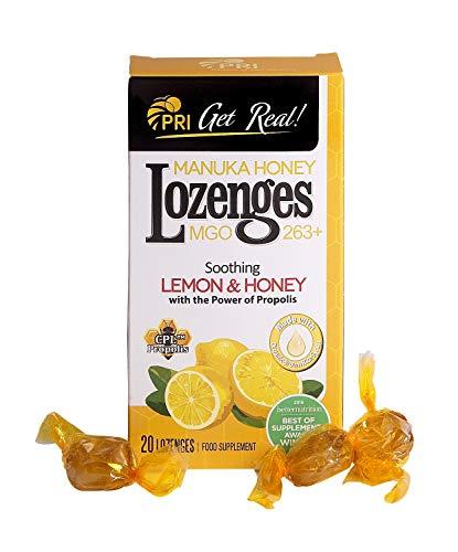 PRI Lemon Manuka Honey Propolis Lozenges