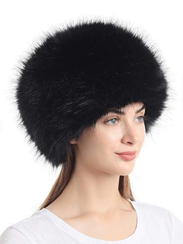 Soul Young Women's Winter Faux Fur Cossak Russian Style Hat(one Size,Black)